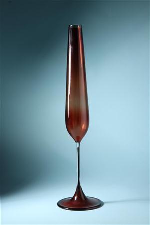 Vase, Tulip. Designed by Nils Landberg for Orrefors, Sweden. 1957.