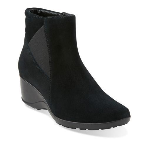 Womens Boots Clarks Allura Mystic Black Leather