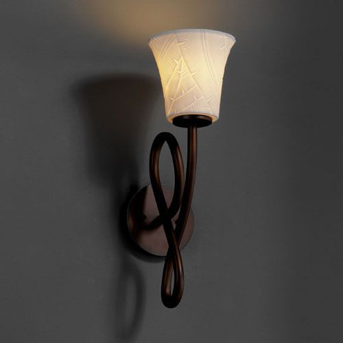 Limoges Capellini Dark Bronze Wall Sconce Justice Design Group 1 Light  Bathroom Lighting W