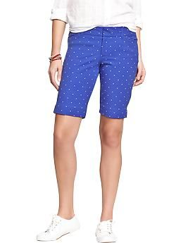 Classic cool in these blue polka dot Pixie bermudas