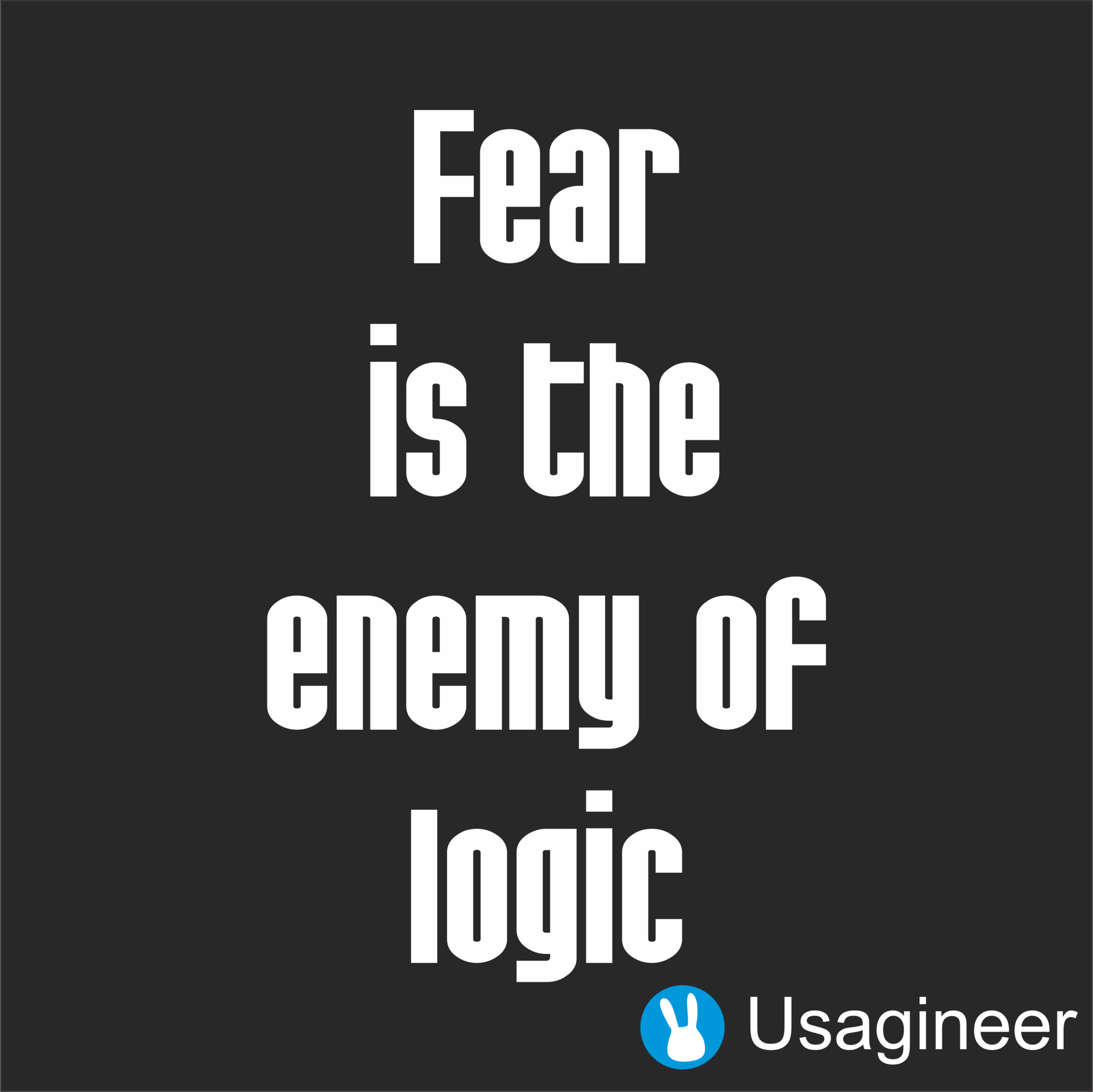 Fear Is The Enemy Of Logic Quote Vinyl Decal Sticker Business - Custom vinyl decals quotes   beginning business