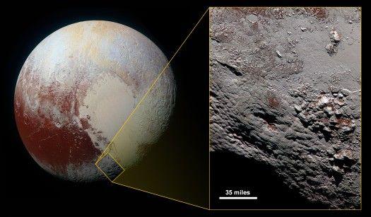 Tähdet ja avaruus: Pluton jäätulivuoresta julkaistiin tarkin kuva tähän mennessä