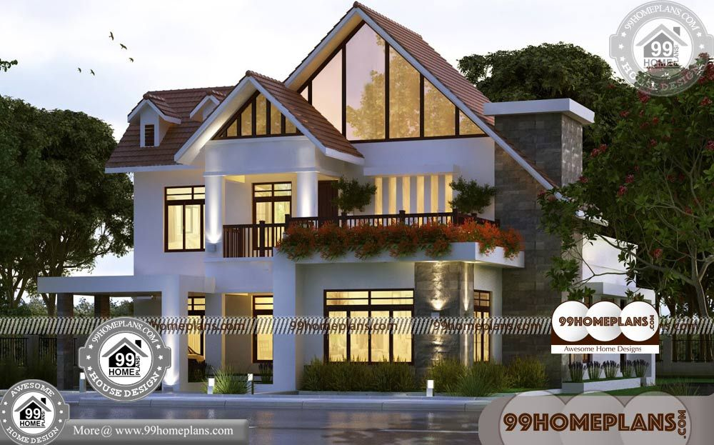 Small Home Plans And Prices With Front Design Of House In Indian Double Story Having 2 Floor 4 Total House Arch Design House Design Pictures Small House Plans