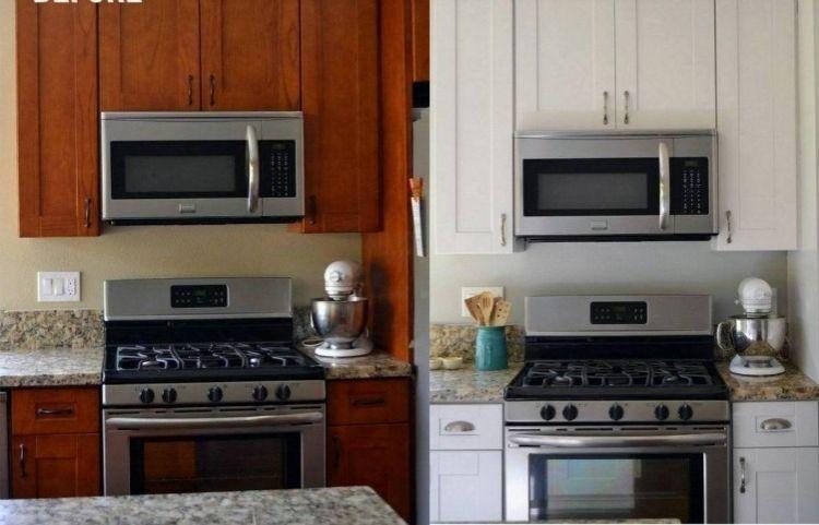Rénovation cuisine 37 idées armoires avec des photos avant/après - Repeindre Une Vieille Cuisine