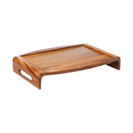 Acacia wood bed tray with side handles.   Product: Bed tray       Construction Material: Acacia wood   Co...