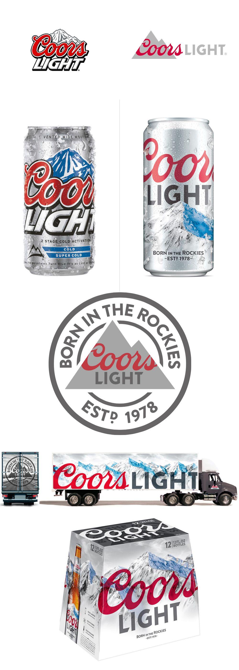 Coors Light branding | Coors light beer can, Beer, Branding