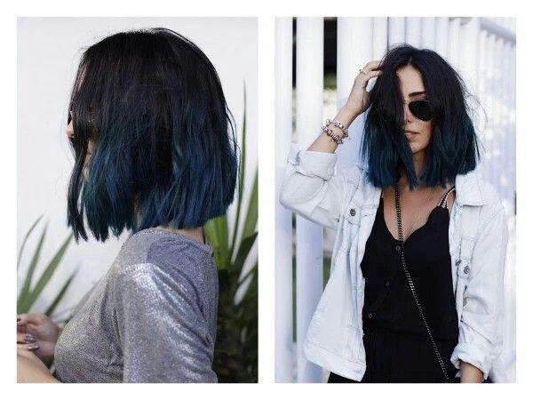 Blunt Bob Hair Styles Short Hair Styles Short Blue Hair