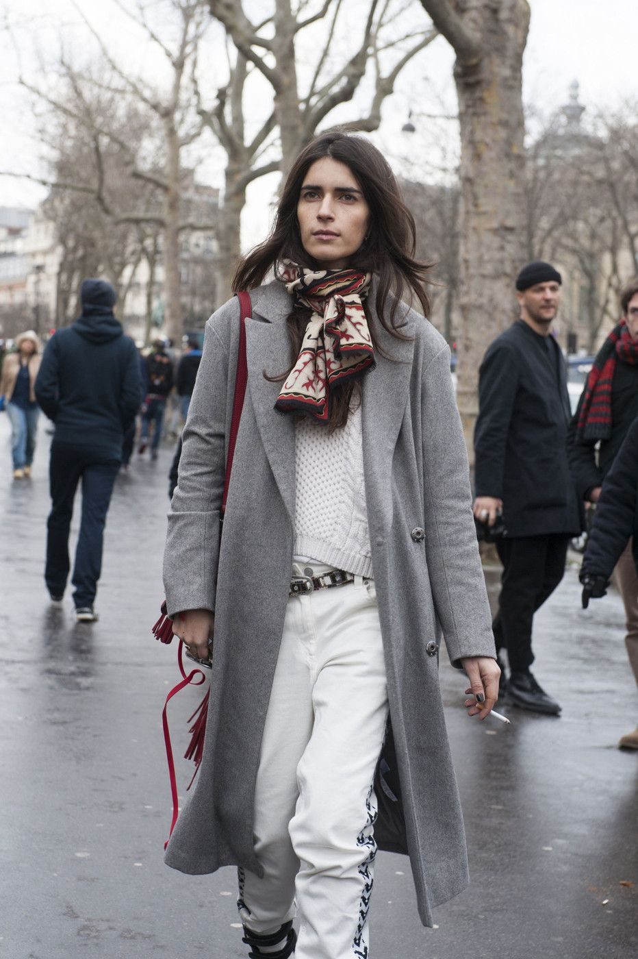 Paris Fashion Week Fall 2014 Attendees Pictures WinterWinter Street StylesFrench