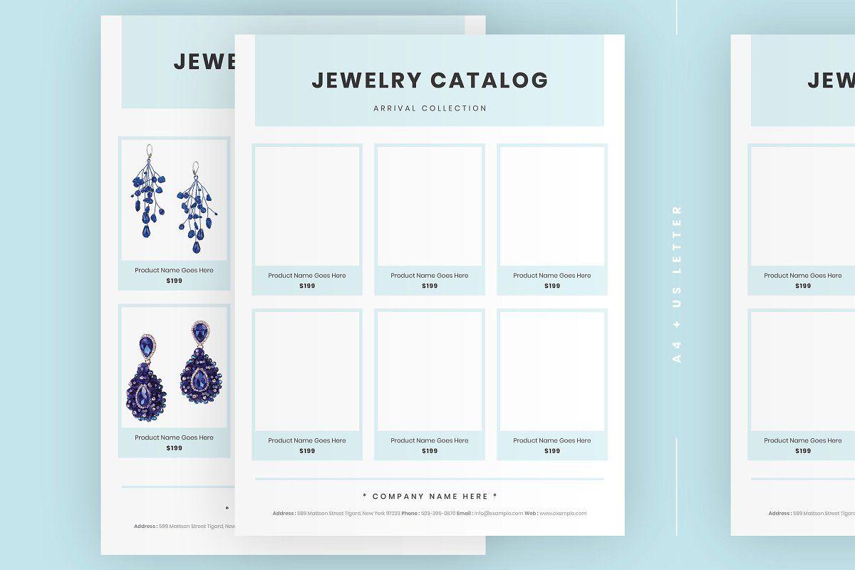 Minimal Jewelry Catalog Template In 2020 Jewelry Catalog