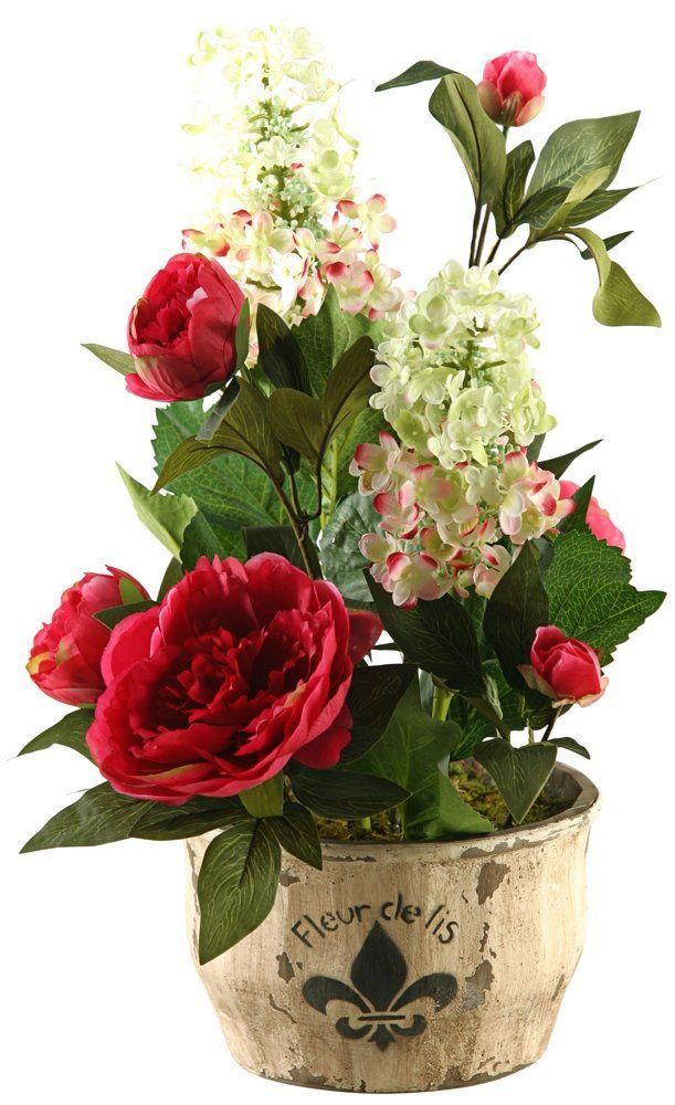 D and W Silks Hydrangeas and Peonies Silk Flower * To view further for this item, visit the image link.