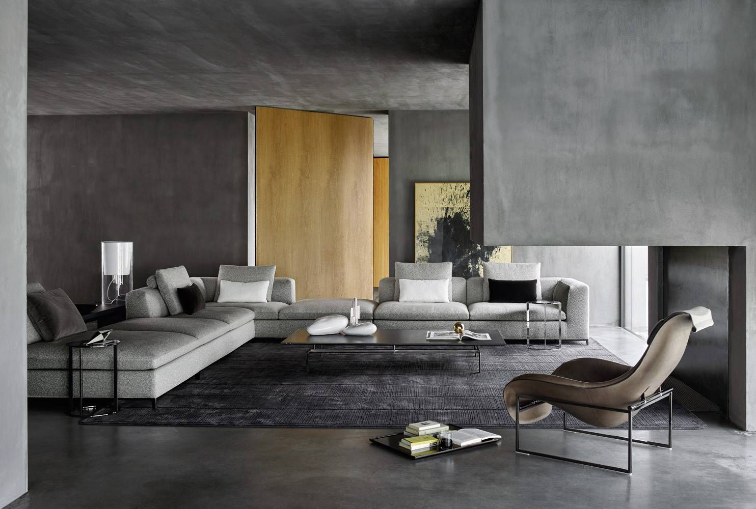 Sofa Michel Club B B Italia Design Of Antonio Citterio Modern