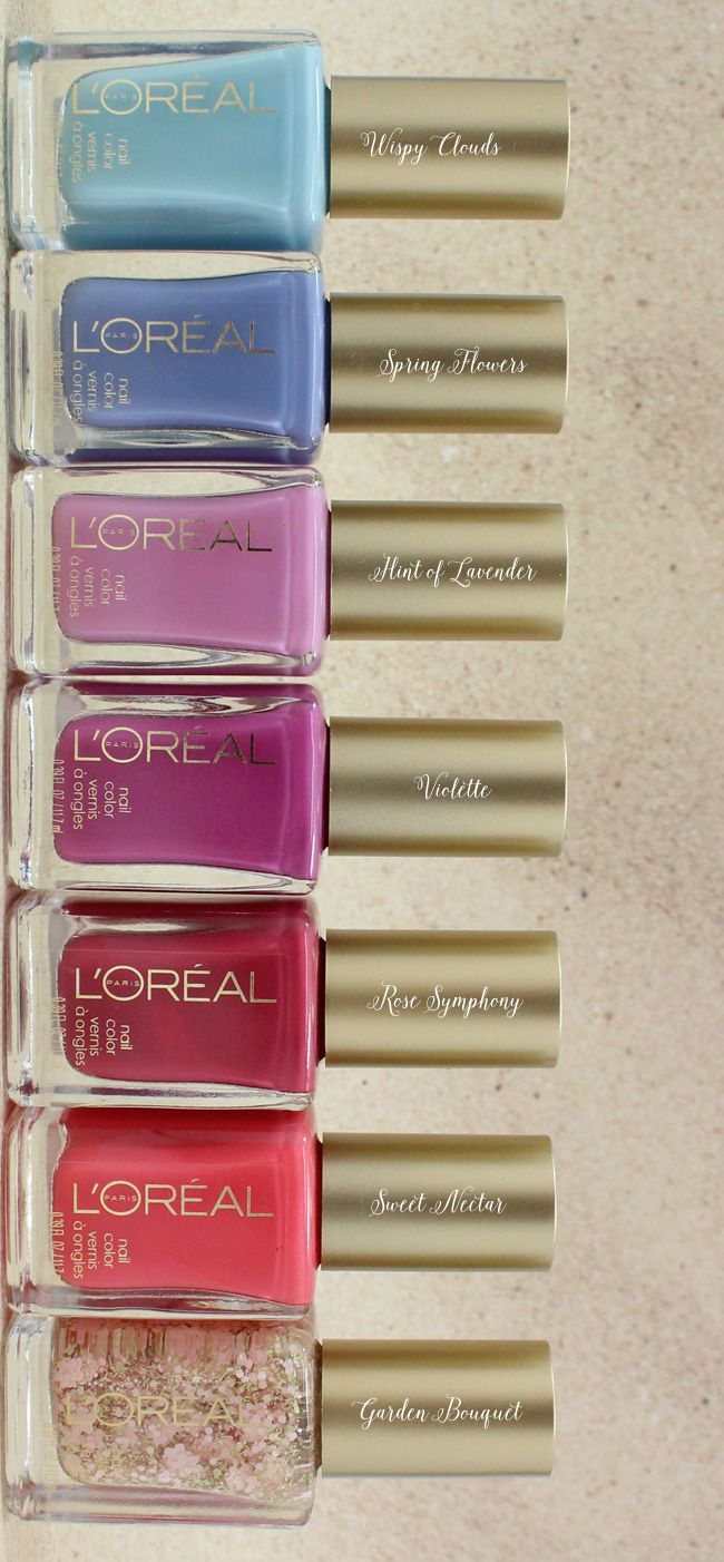 L'Oréal Paris Colour Riche Nail Vintage Florals Collection.