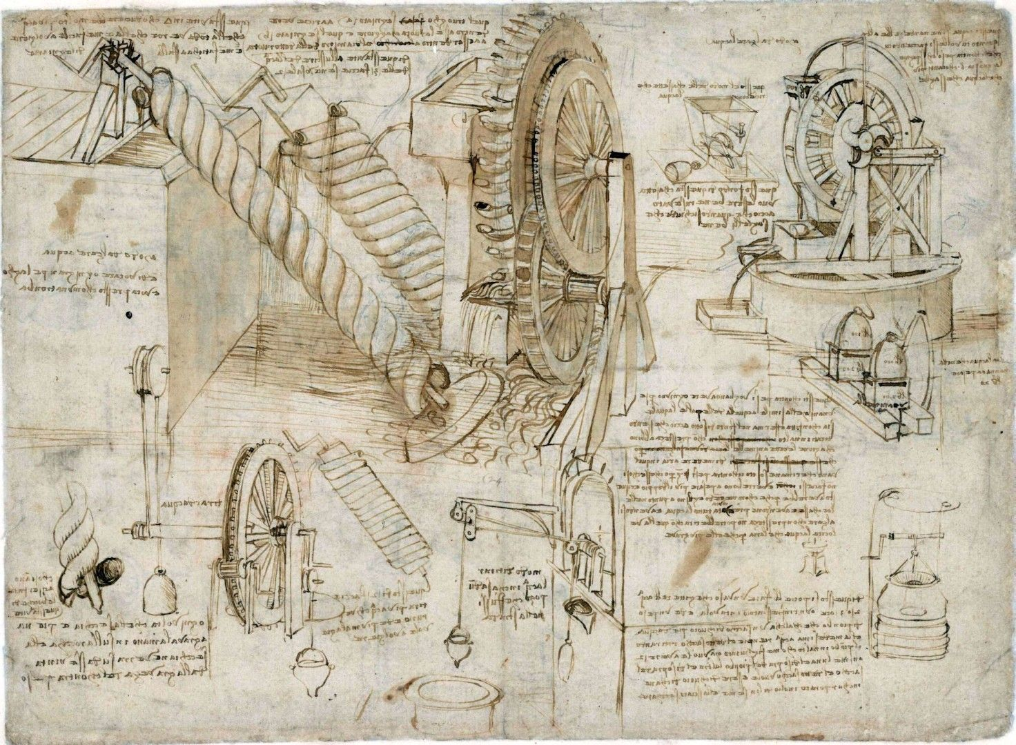 Conoscenza Link Http Www Bta It Txt A0 06 Bta00636 Html Da Vinci Inventions Da Vinci Sketches Sketch Book