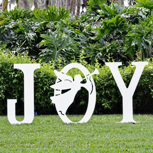 Teak Isle Christmas Joy Angel Yard Sign Teak Isle   smile