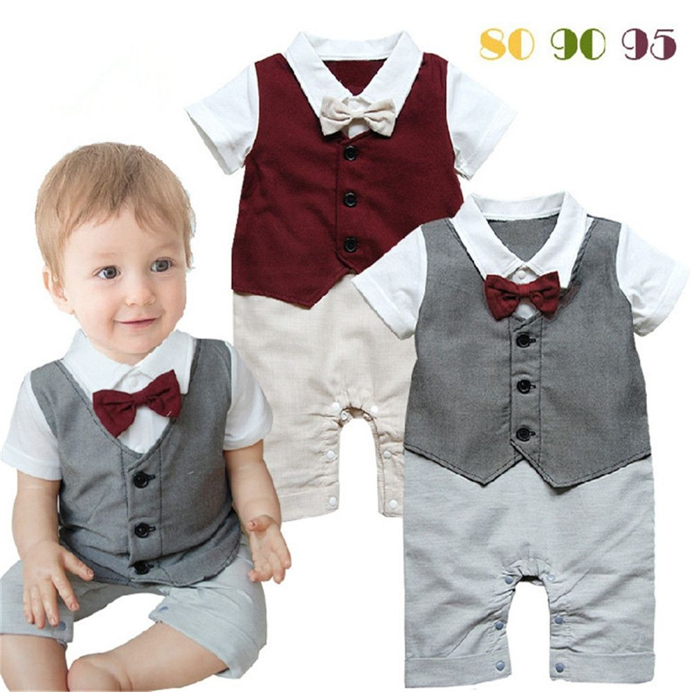 Wholesale 3pcs/lot Infant Toddler Baby Boy\'s Formal Wear Tuxedo ...