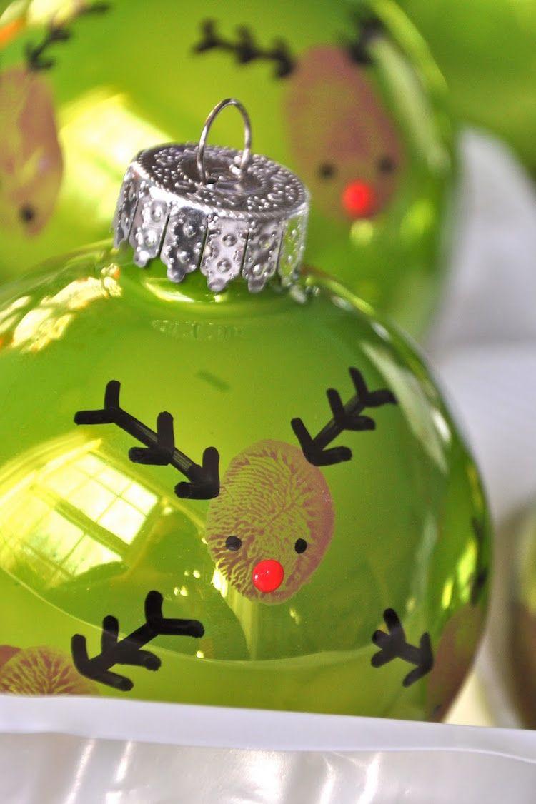 Bastelideen f r weihnachten basteln kindern anleitung weihnachtskugel kirsch geschenkideen - Weihnachtsdekoration basteln mit kindern ...