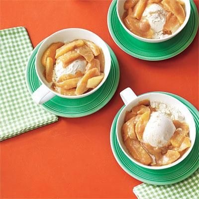 Fall apple recipes: Apples and Ice Cream