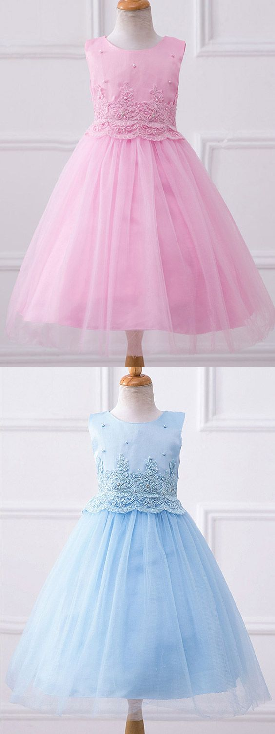 simple ballgown tulle formal girls pageant dress flower girl