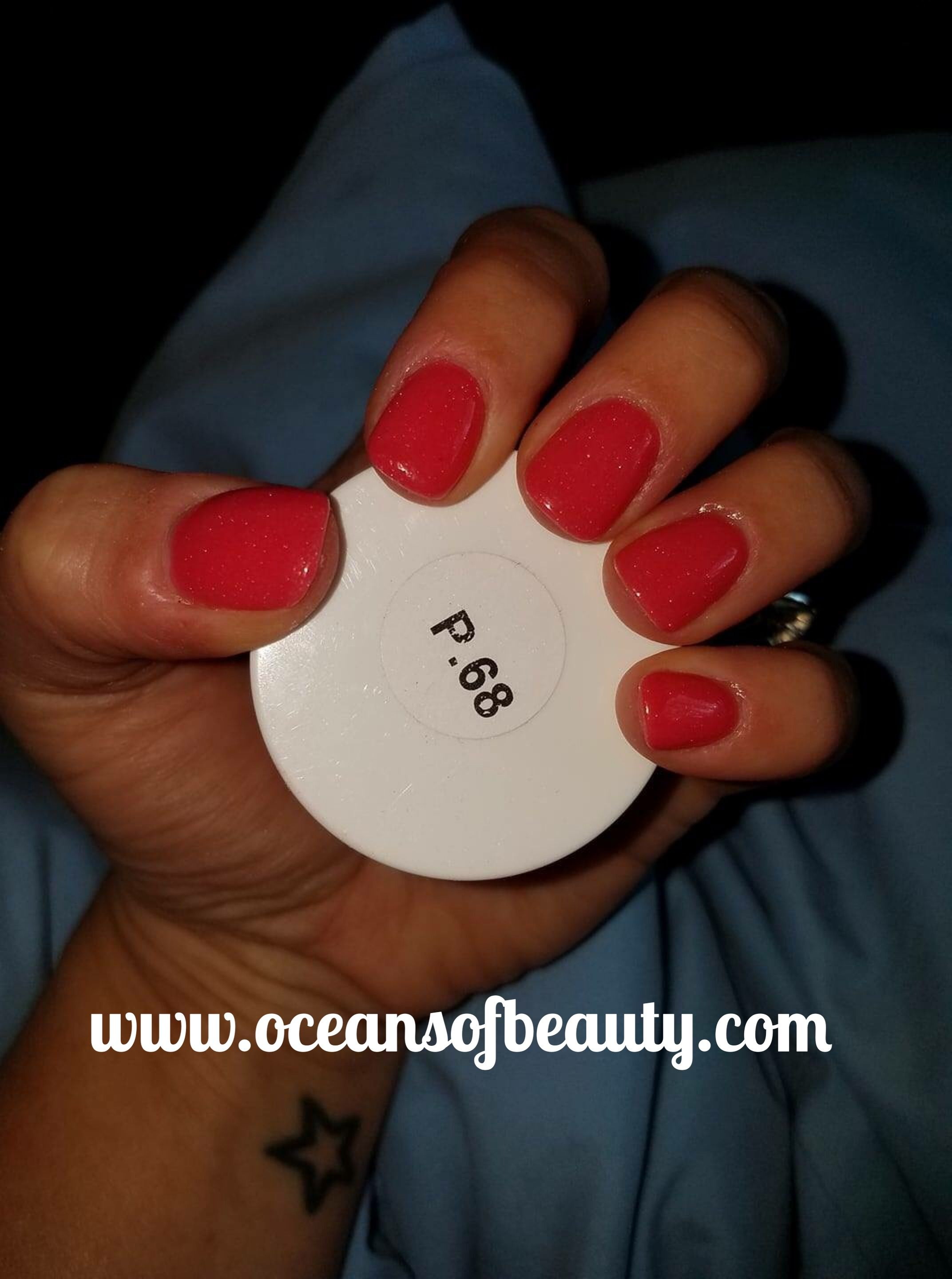 P.68 EZdip Gel Powder. DIY EZ Dip. No lamps needed, lasts 2-3 weeks ...
