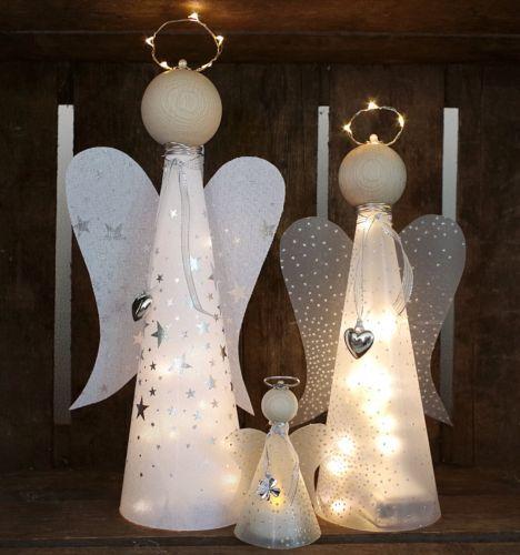 Bastelanleitung + Material f. beleuchteten Engel Lichterkette basteln Bastelset #gemütlicheweihnachten