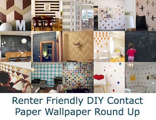 When You Cant Paint Part 2 Contact Paper Wallpaper Damage Free And Renter Frie New Decora Rental Decorating Contact Paper Wall Diy Contact Paper Wallpaper