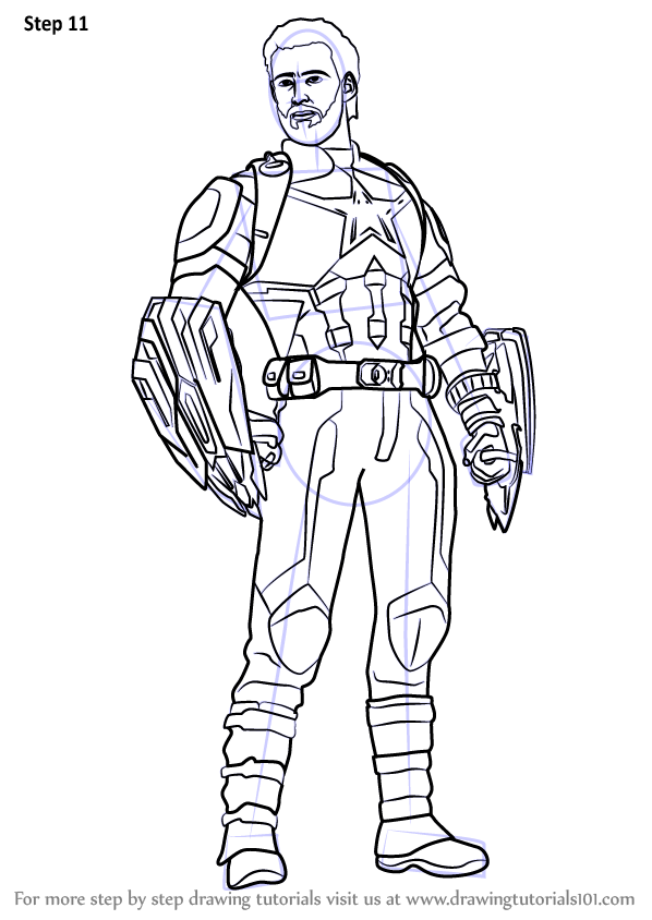 Learn How To Draw Captain America From Avengers Infinity War Avengers Infin Captain America Coloring Pages Superhero Coloring Pages Captain America Drawing