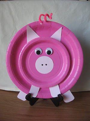 Dandelions and Dust Bunnies Fun Kids Craft - Piggy & Dandelions and Dust Bunnies: Fun Kids Craft - Piggy | Paper Plate ...