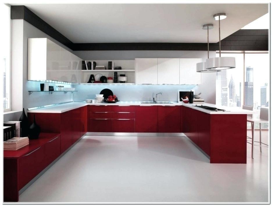 Cuisine rouge et blanche #décoration #décorationchambre ...