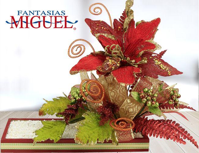 Arreglo nochebuena navidad 2014 adorno decoraci n - Adornos de mesa navidenos ...