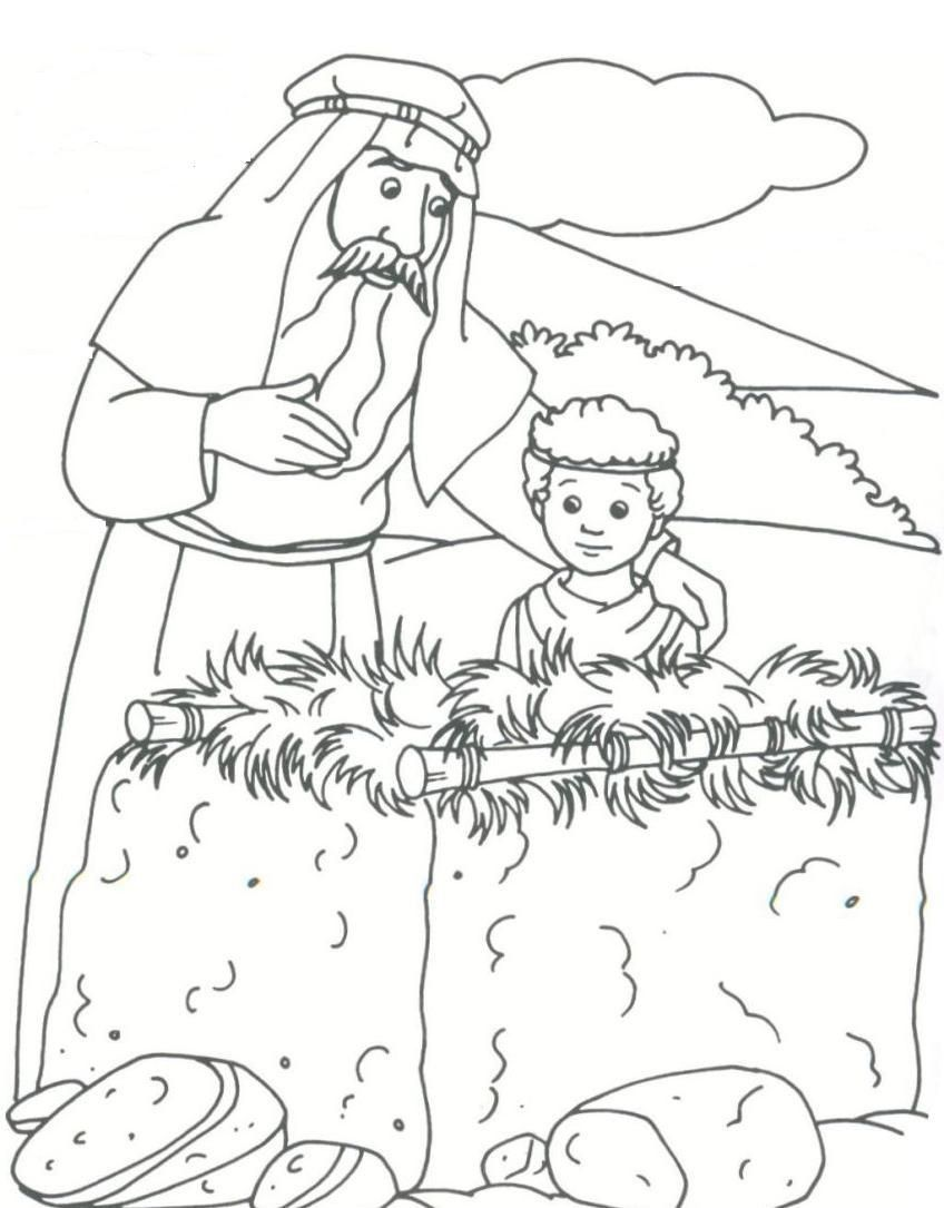Challenge Abraham And Isaac Coloring Page By Altar Genesis
