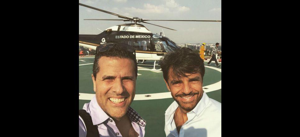 uso de helicóptero del Edomex para transportar artistas