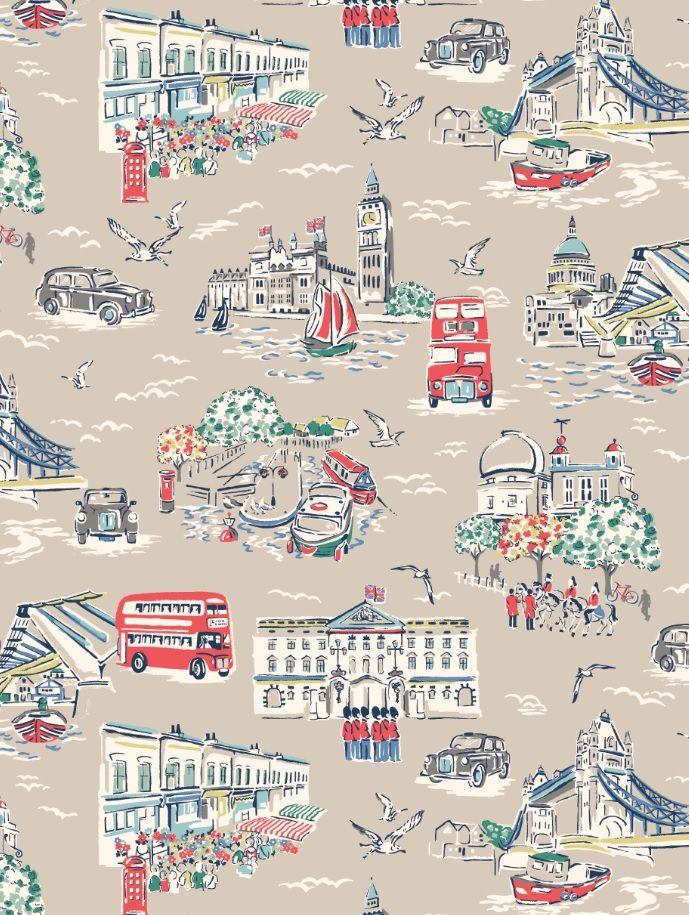 London Town Pattern wallpaper, Cath kidston wallpaper