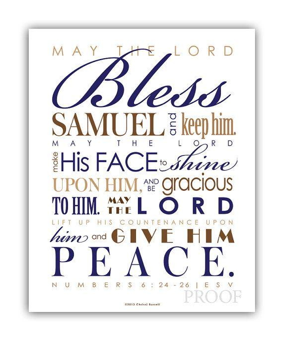 Baby Gift God Bible Verse : Baptism gift baby boy christening diy print frame