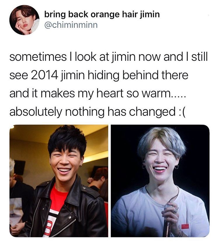 Uwu The Only Difference Is That He Wears A Wig Now Jimin Bts Jimin Bangtan