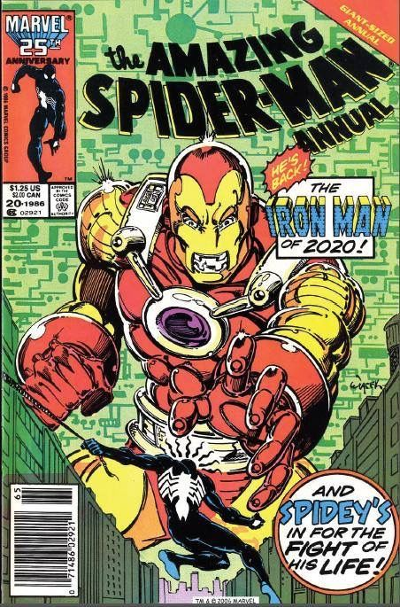 Iron Man Of 2020 From The Amazing Spiderman Annual 1986 Capas De