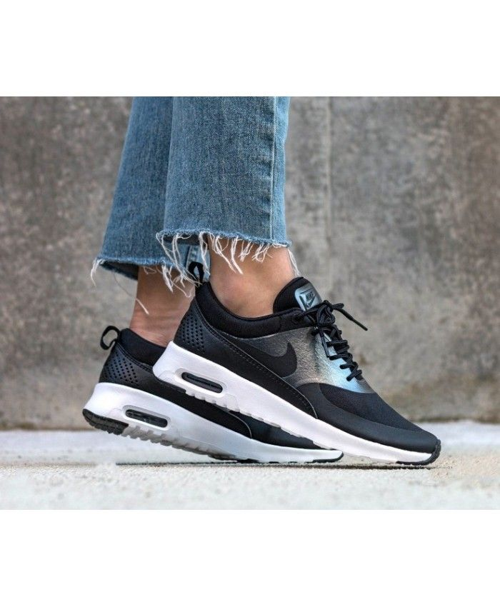 hot sales authorized site save up to 80% Nike Air Max Thea Black Metallic Hematite White Trainers ...