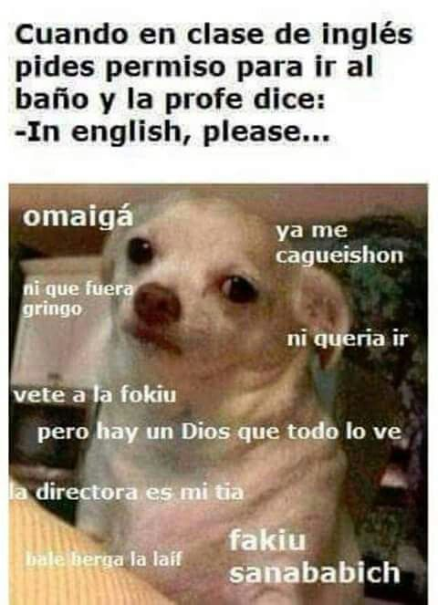 Clase De Ingles Funny Spanish Memes New Memes Funny Memes