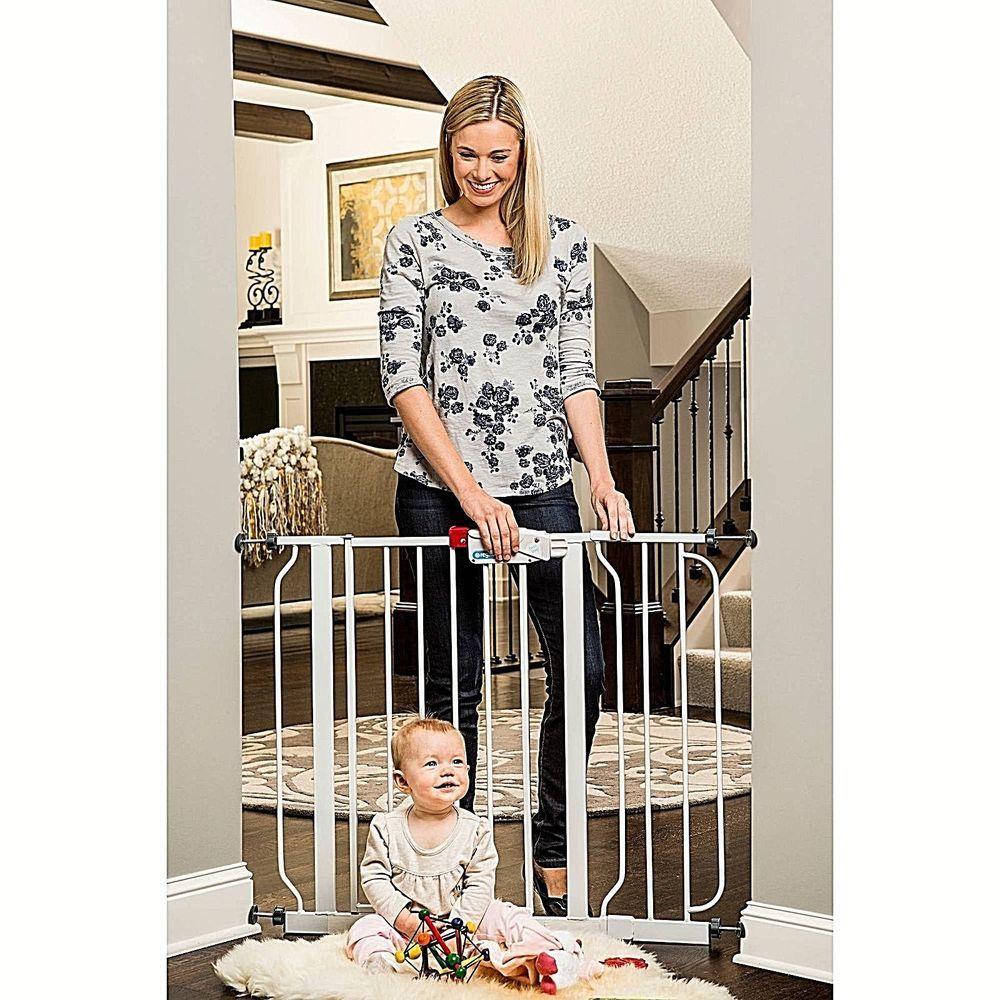 Easy Step Walk Through Pressure Mount Baby Gate For Child