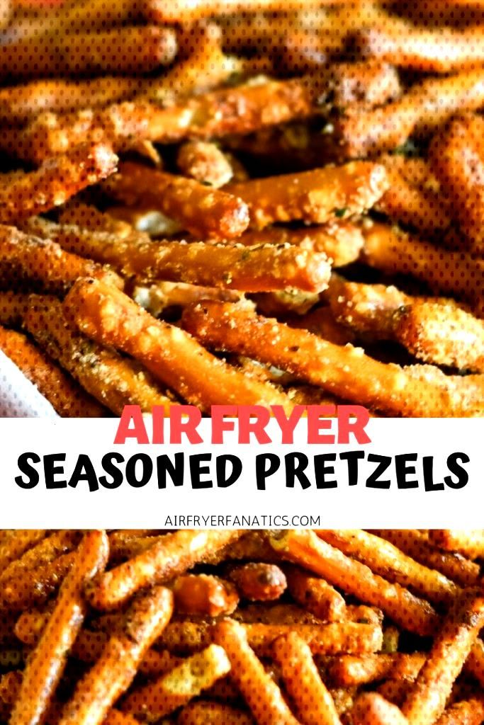 Make a delicious treat with Air Fryer Seasoned Pretzels that are also easy to make too!