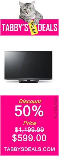 LG 50PM6700 50-Inch 1080p 600Hz Active 3D Plasma HDTV $599.00