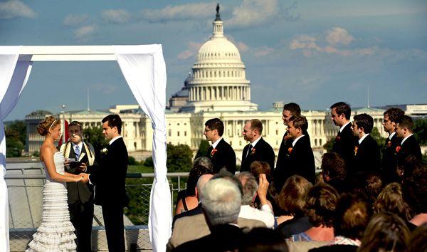 The Newseum Rooftop Wedding Reception Rooftop Wedding Wedding