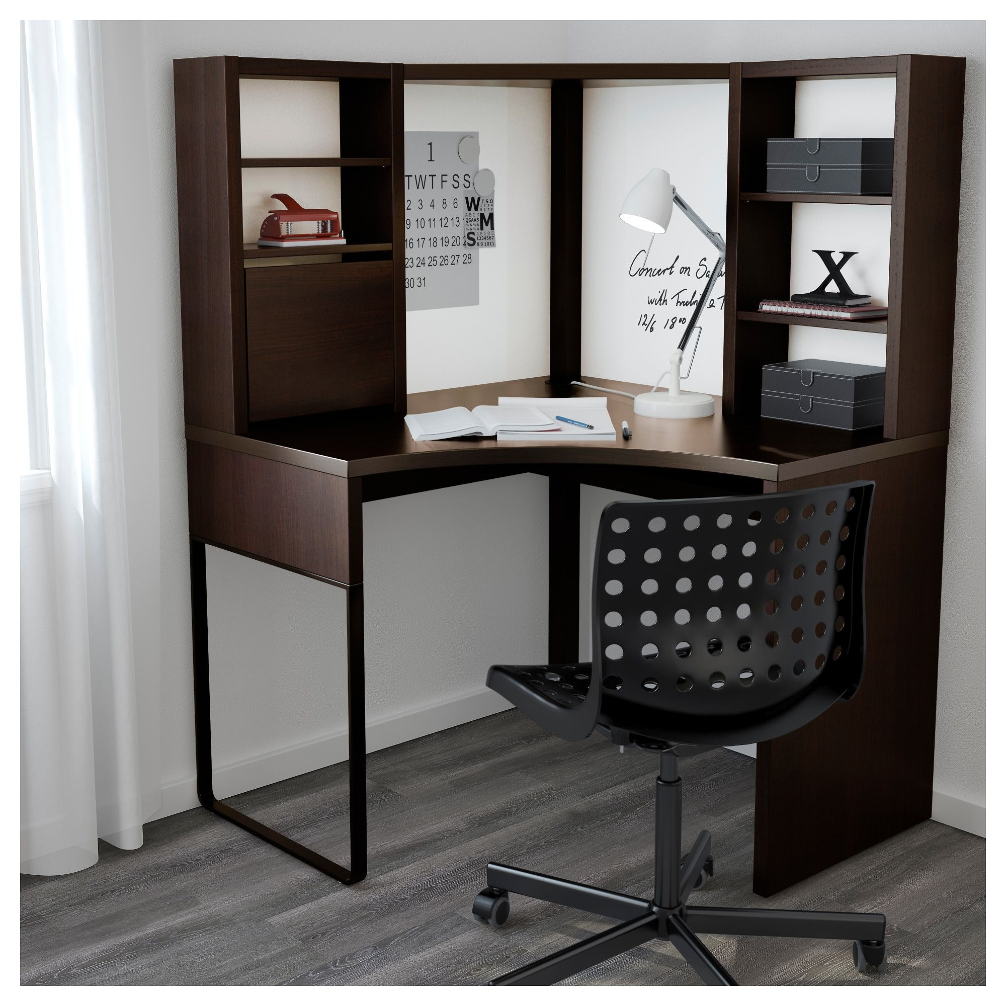 Micke Hoekbureau Zwartbruin 100x142 Cm Ikea Corner Workstation Cheap Office Furniture Ikea Micke