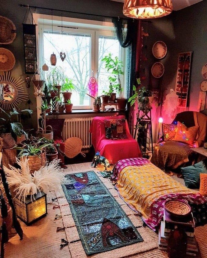 40+ schöne Hippie Schlafzimmer Ideen Features, die Sie ...