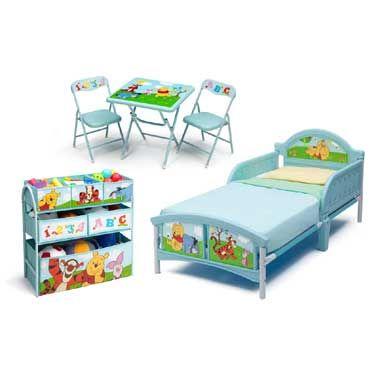Disney Poeh luxe peuterkamer Deze slaapkamer is helemaal in Winnie ...