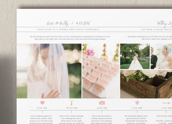 wedding day timeline template for photographers studio