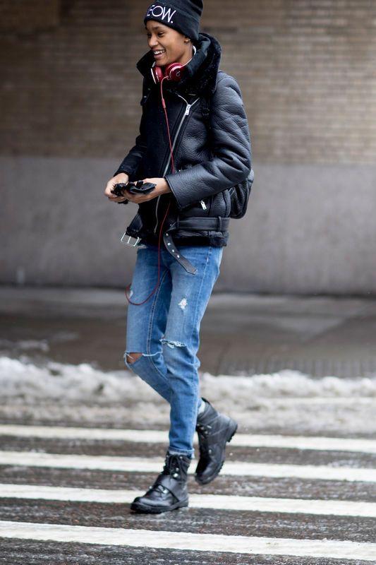 Street Fashion New York Fashion Week Jesien Zima 2017 2018 New York Fashion New York Fashion Week Street Style