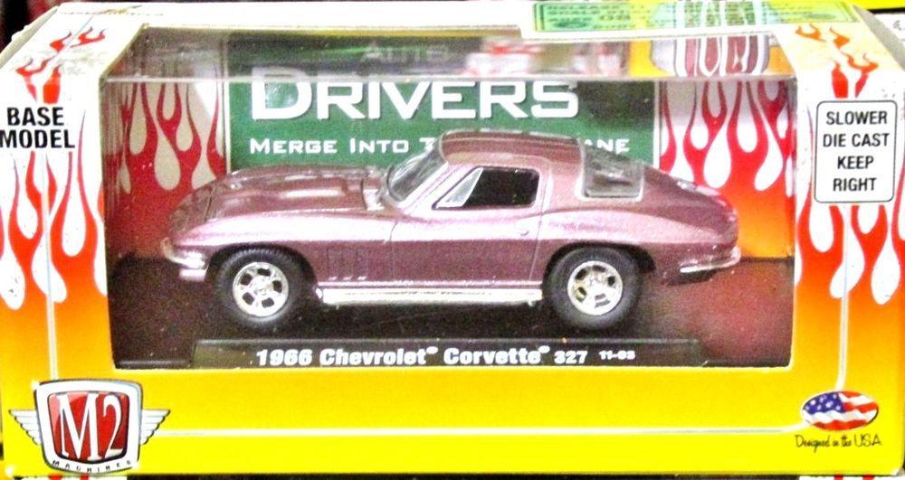 66 corvette 2 pack 1:64 scale m2 machines