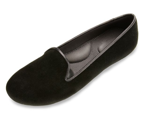 Black Loafers For Women - Suede Shoes