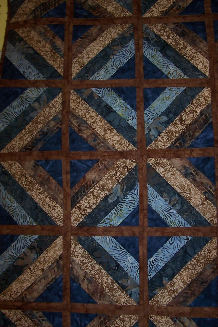 Blue And Brown Quilts Fun And Done Quilt Blue Brown Quilt