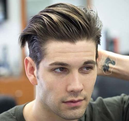 Hairstyles For Balding Men Short Sides With Long Textured Slick Back Thick Hair Styles Long Textured Hair Balding Mens Hairstyles